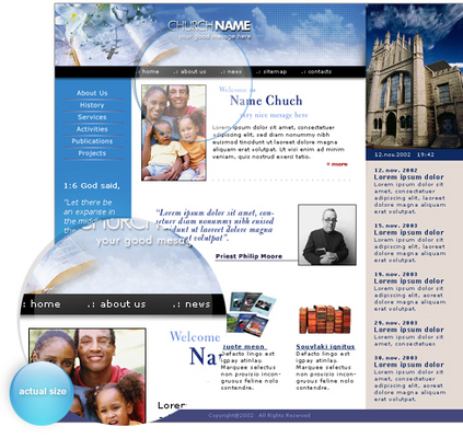 Product picture New Church Website Template