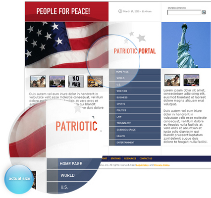 Product picture patriotic portal template