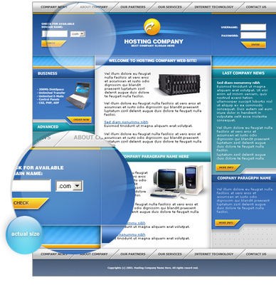 Product picture Webhosting company template