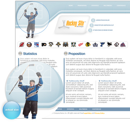 Product picture Hockey site template