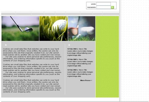 Product picture Golf web template