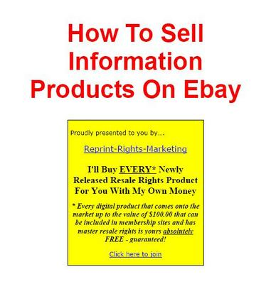 Product picture How to Sell info on Ebay